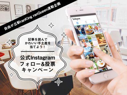 記事を読んでかわいい手土産を当てよう!公式Instagramフォロー&投票キャンペーン