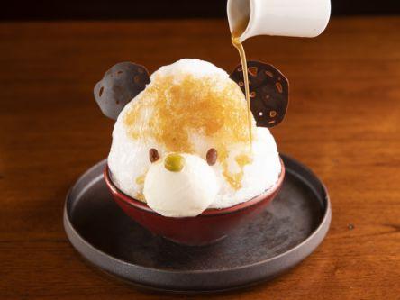"""東京タワー目の前!開放的なガーデンテラス席で味わうふわふわ""""しろくま""""かき氷"""