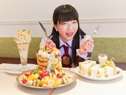フルーツが主役の大迫力パンケーキタワー!【大食いアイドルもえのあずきの絶品グルメ】