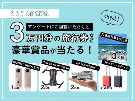 サービス向上にご協力ください!アンケート回答で3万円分の旅行券など豪華賞品が当たる!