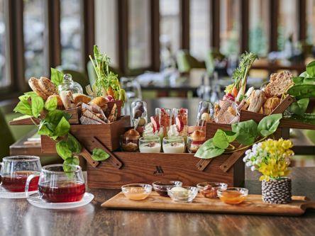 写真映え抜群!軽井沢のホテルで信州野菜や高原いちごの春の庭園アフタヌーンティー