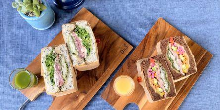 ヘルシーな断面にうっとり!野菜たっぷりなサンドウィッチを召し上がれ