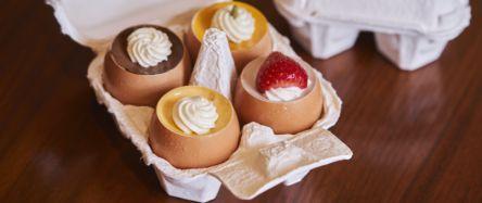 卵に入ったかわいい「うふプリン」は、サプライズ手みやげにもぴったり!