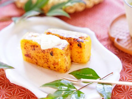 バター香る♪香ばし焼き芋ようかん【kyoko_plusのレシピ&テーブルコーデvol.26】