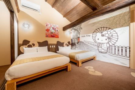 京都の町屋風ホテル「レジステイ錦」から、舞妓キティちゃんとのコラボルームが登場!