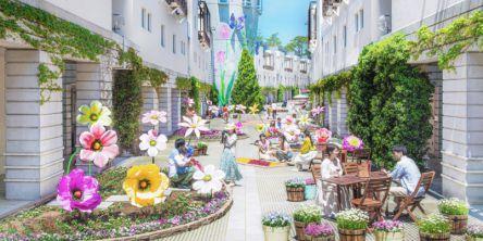"""""""ビッグフラワー""""がフォトジェニック!春の訪れを祝う祭典「回廊の花咲くリゾナーレ2021」"""