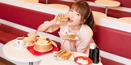"""シンガポール発祥の""""甘~いトーストサンド""""【大食いアイドルもえのあずきの絶品グルメ】"""