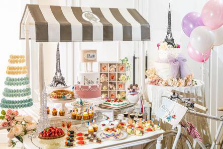 【大阪・本町】結婚式場を一般開放!パリジェンヌのお茶会をイメージしたスイーツブッフェで優雅なティータイムを
