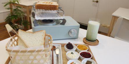 もっちり食パンをキュートなコンロで焼き上げる!体験型食パン専門店