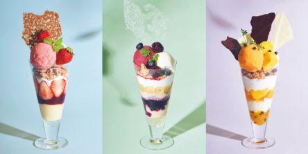 パフェ好き集まれ!季節のフルーツたっぷりのひんやり贅沢な「夏パフェ」3種が登場♪