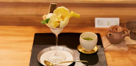 日本茶専門店「鎌倉倶楽部 茶寮 小町」のこだわり日本茶と極上レモンパフェ