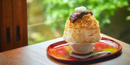 【奈良】かき氷2021 年間237杯食べるツワモノも。名物、奈良の生わらび餅が入ったふわふわの和のかき氷