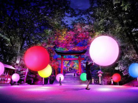 大分・宇佐神宮に呼応する球体や森が出現!チームラボが創り出す 光の祭