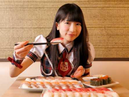 コスパGOOD!寿司食べ放題【大食いアイドルもえのあずきの絶品グルメ1】