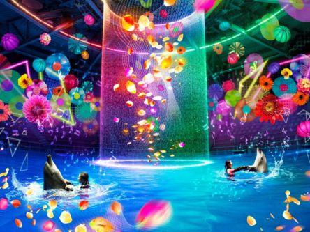マクセルアクアパーク品川のハロウィーンはデジタルアートで華やか!