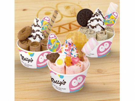 京都でカワイく進化したロールアイス専門店「ROLLY'S ROLL ICE CREAM KYOTO」が、渋谷に!