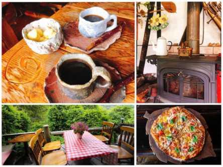 山奥で料理と自然に癒されて。手作りログハウスの週末限定レストラン