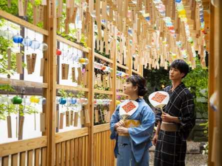 2000個の風鈴の音色が響く「川越氷川神社 縁むすび風鈴」今年も開催