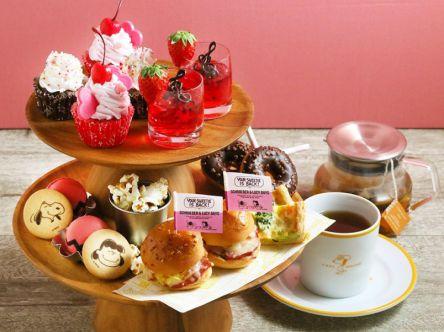 ピーナッツカフェのピンクなスイーツ&メニューはシュローダーとルーシーがテーマ