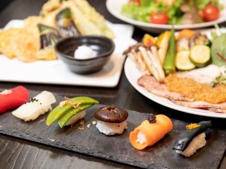 """カラフルキュートな""""野菜寿司""""&レアな""""神戸豚""""を三宮の野菜バルで"""